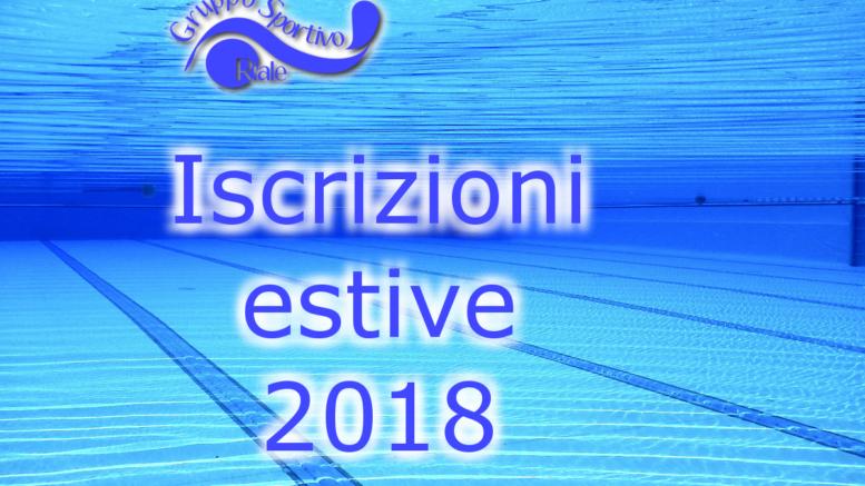 iscrizioni estive 2018